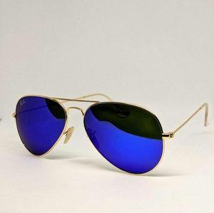 Blue/Gold Framed Aviator